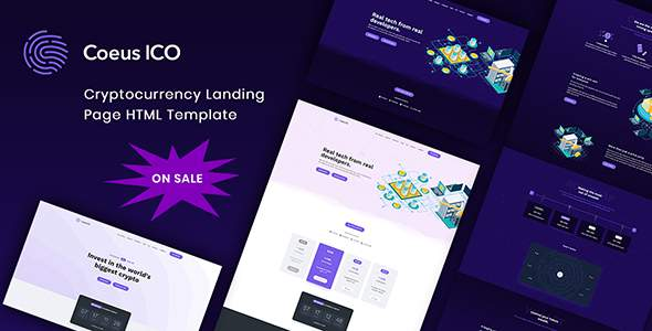 Coeus - Cryptocurrency Landing Page HTML Template            TFx Kent Vince