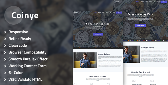 Coinye – Bitcoin & Ethereum, Crypto Currency Multipurpose HTML Template            TFx Abraham Kenton