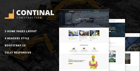 Continal - Construction Business Joomla Template            TFx Vere Caiden