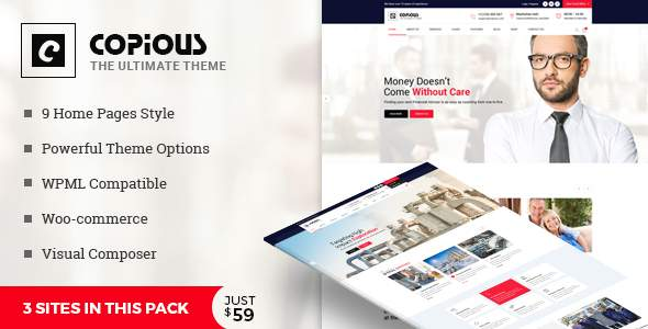 Copious - Multiuse WordPress Theme            TFx Deforrest Chad