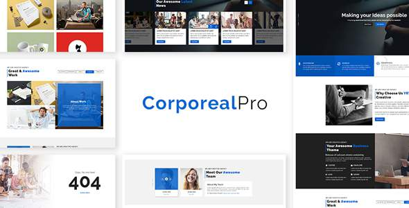 CorporealPro – Business / Corporate / Creative / Agency / Personal / Technology HTML Template            TFx Kipling Lyle