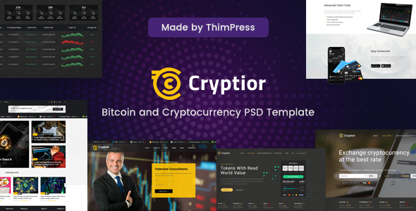 Cryptior - Bitcoin and Cryptocurrency PSD Template            TFx Happy Gaylord