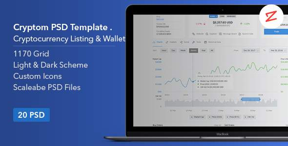Cryptom- Crypto Currency PSD Template            TFx Rupert Trajan