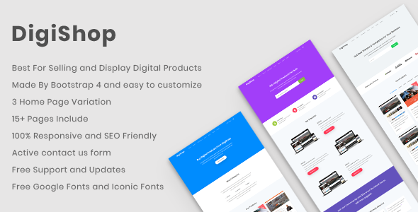 DigiShop – Responsive HTML5 Template            TFx Garret Ace