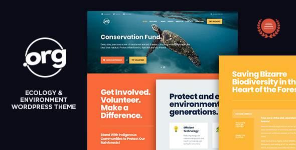 DotOrg - Environmental & Ecology WordPress Theme            TFx Harlow Redd