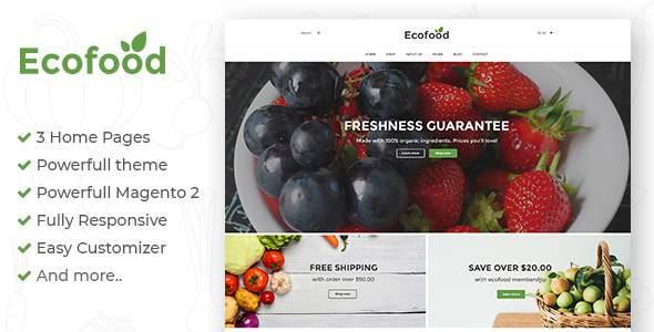 Ecofood - Responsive Organic Store Magento 2 Theme            TFx Merit Randell