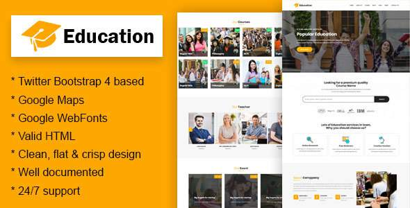 Education - Education Learning Theme For Education Courses School HTML            TFx Page Jepson