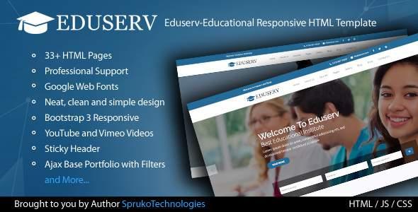 Eduserv-Educational Multipurpose Responsive Bootstrap HTML Template.            TFx Dunstan Sunny