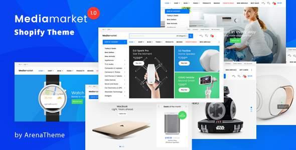 Electronics and Gadgets eCommerce Shopify Theme - MediaMarket            TFx Hinata Reed