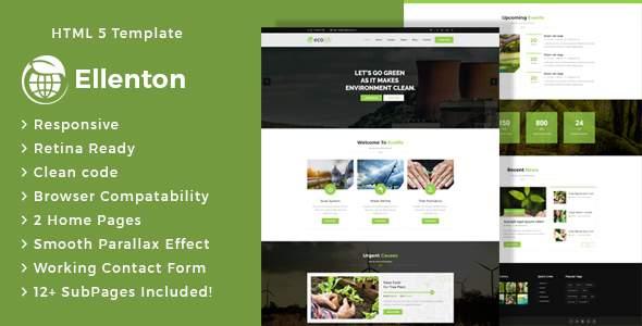 Ellenton - Environment / Non-Profit HTML Template            TFx Hachirou Byrne