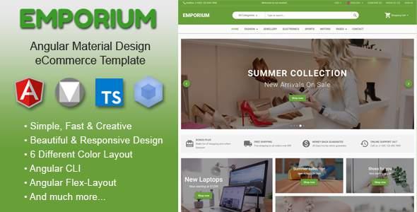 Emporium - Angular Material Design eCommerce Template            TFx Haru Vespasian