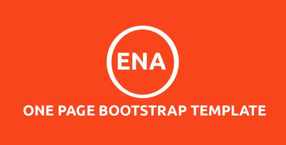 Ena - One Page Bootstrap Template            TFx Wiley Sahak