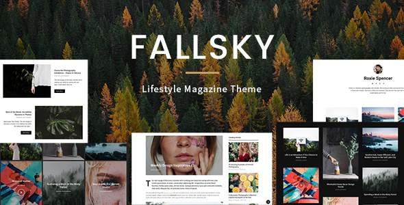 Fallsky - Lifestyle Magazine Theme with Shop            TFx Alexander Barney