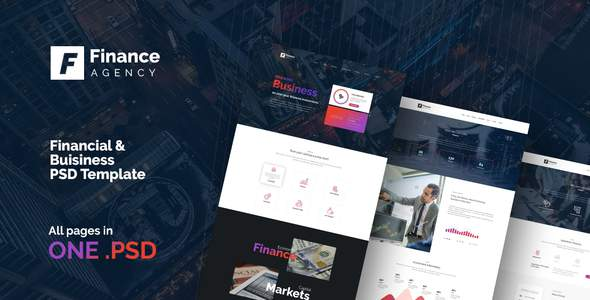 FinAg - Creative &  Finance Agency PSD Template            TFx Homer Sawyer