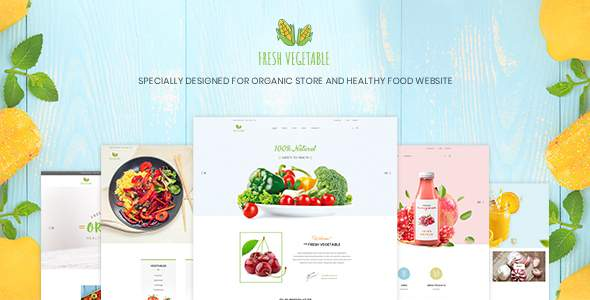 Fresh Vegetable - Organic Store & Eco Food Products PSD Template            TFx Dacre Danny