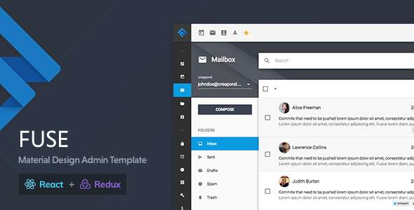 Fuse React - React Redux Material Design Admin Template            TFx Aputsiaq Aden