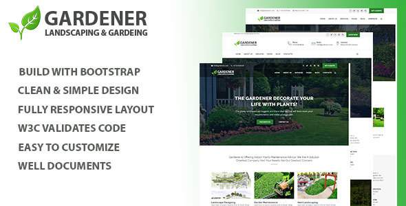 Gardener - Gardening and Landscaping HTML Template            TFx Swithin Melvin