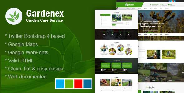Gardenex - Gardening and Landscaping Bootstrap4 Responsive Template            TFx Herbert Shawn