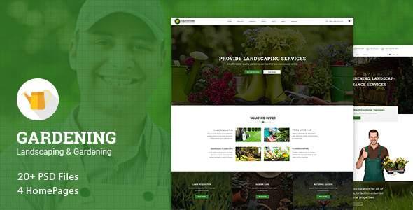 Gardening – Landscaping & Gardening PSD Template            TFx Karen Russell