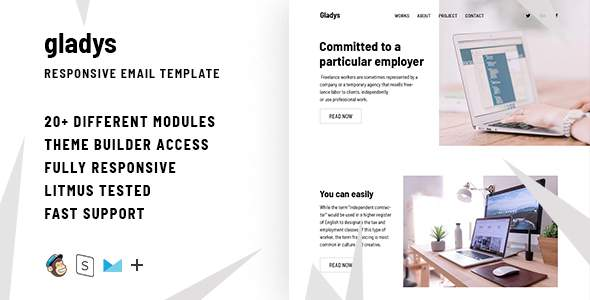 Gladys – Responsive Email + StampReady Builder            TFx Ohannes Kent