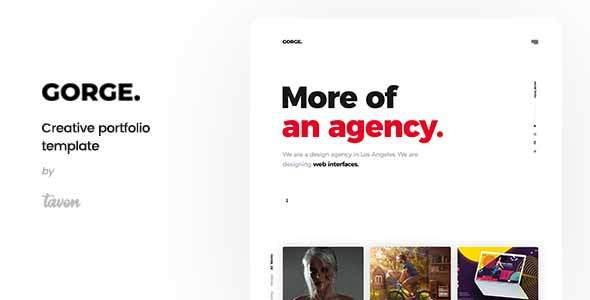 Gorge – Creative Portfolio Template            TFx Braith Timmy