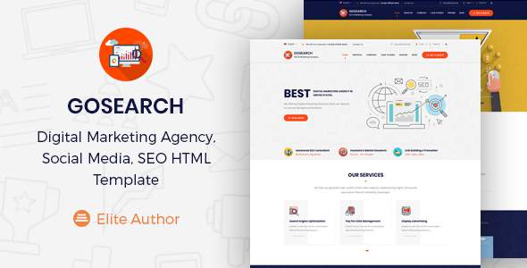 Gosearch - Digital Marketing Agency, SEO HTML Template            TFx Guntur Carlyle