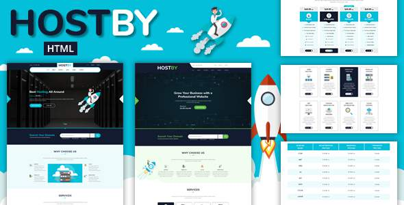 Hostby -  Multipage Hosting Bootstrap4 HTML Template            TFx Ambrose Juurou