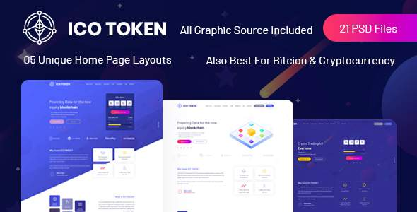 ICO TOKEN - Bitcoin & Cryptocurrency PSD Template            TFx Sulaiman Marvin