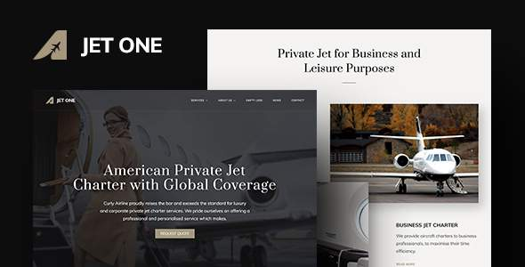 Jet One – Private Airline WordPress Theme            TFx Skylar Maquinna