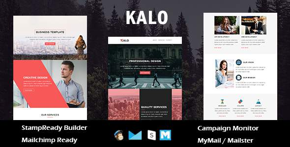 Kalo – Multipurpose Responsive Email Template With Online StampReady Builder Access            TFx Swithin Abe