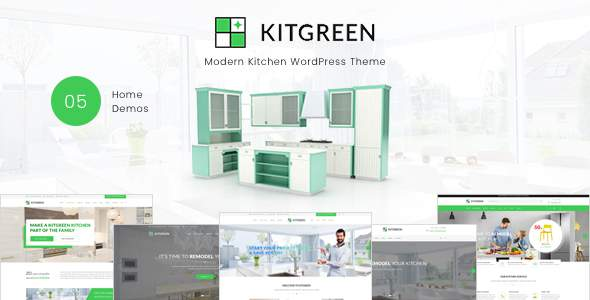 KitGreen - Modern Kitchen WordPress Theme            TFx Keir Perce