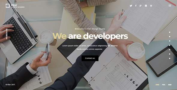 Klar – Agency Landing Page Template            TFx Leigh Henderson
