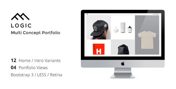 LOGIC – Minimal Multi-Concept Portfolio Joomla Template            TFx Kynaston Hewie