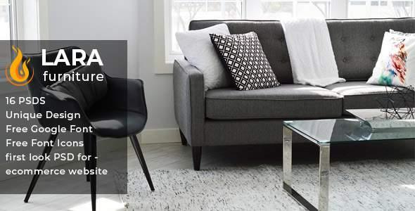 Lara - Furniture E-commerce PSD Template            TFx Valerian Troy