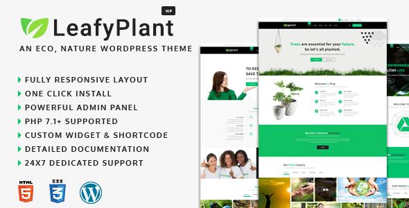 LeafyPlant - Multipurpose Environmental WordPress Theme            TFx Tirto Whitaker