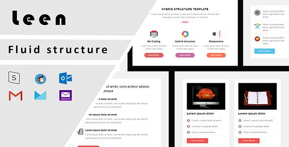 Leen Responsive Email Template + Stampready Builder with Email On Acid test result            TFx Lionel Bret
