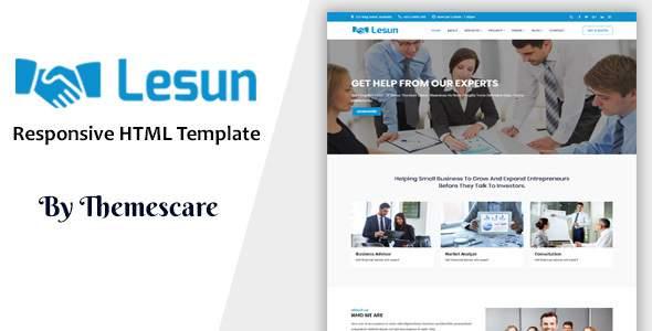 Lesun - Consulting & Business HTML Template            TFx Irwin Conrad