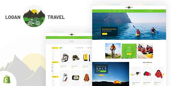 Logan - Trekking & Camping Store Shopify Theme            TFx Howie Greer