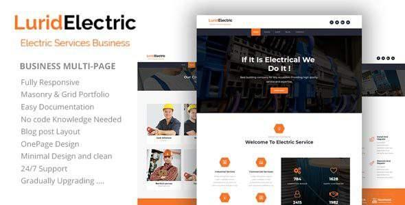 Lurid - Electric Services HTML Template            TFx Lauren David