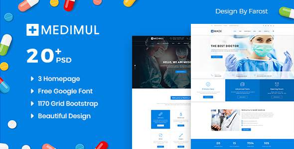 Medimul - Medical Health PSD Template            TFx Driskoll Brian