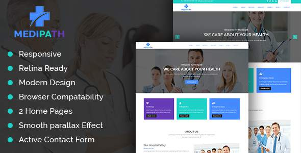 Medipath - Health and Medical Care HTML Template            TFx Boyce Milton