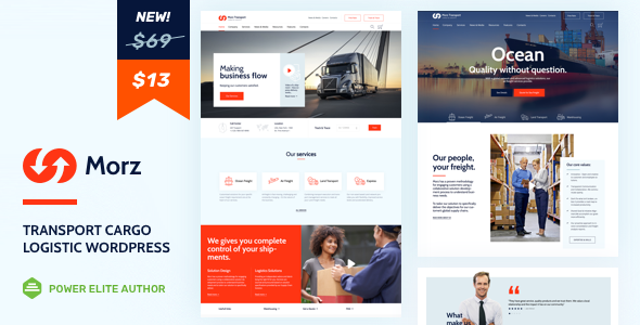 Morz - Transport  Cargo  Logistic WordPress            TFx Laurie Niles