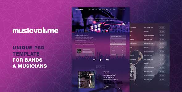 Musicvolume | A Modern Theme for Bands, Musicians, Artists and the Music Industry            TFx Brett Giles