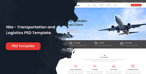 Nile - Transportation and Logistics PSD Template            TFx Nat Timour