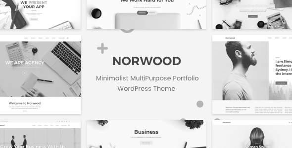 Norwood - Minimalist MultiPurpose Portfolio WordPress Theme            TFx Lake Red