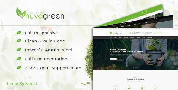 NuvaGreen - Landscape & Gardening WordPress Theme            TFx Hewie Kisecawchuck