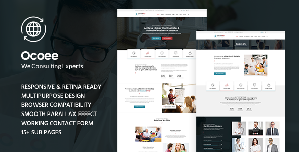 Ocoee - Consulting & Business WordPress Theme            TFx Humbert Deemer