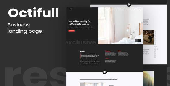 Octifull — Dark Business Themeplate            TFx Thom Fox