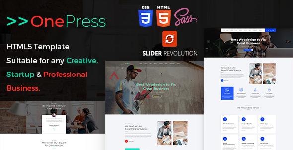 OnePress - One Page Parallax            TFx Jaden Trace