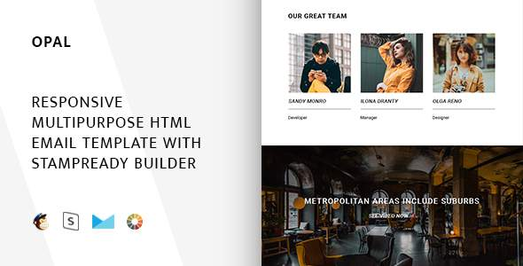 Opal – Responsive Email + StampReady Builder & Mailchimp            TFx Judd Guy